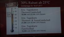 Hitze-Ticket: die Preise purzeln